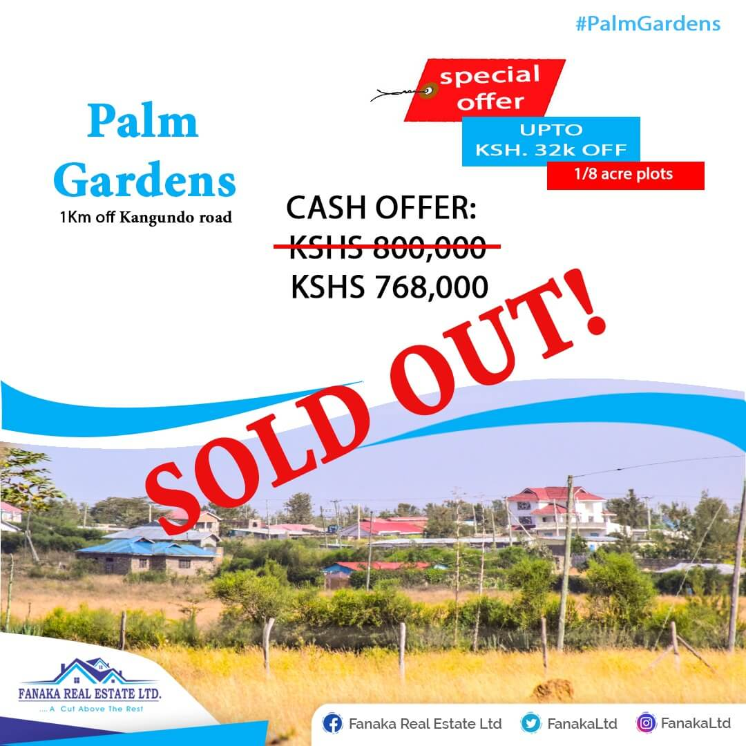 1/8 Acre Plots at Palm Gardens Phase II – Malaa