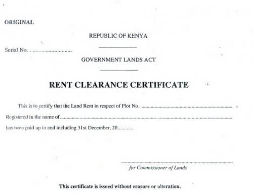 Land Rate Clearance Certifcate