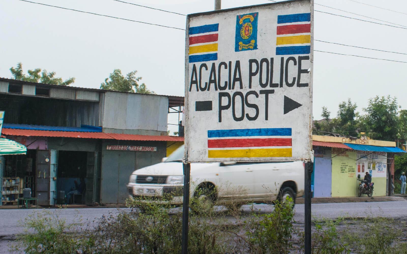 police post along kangundo road